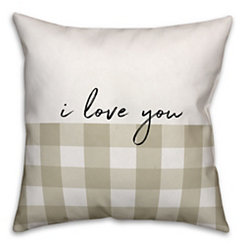 Tan Love Pillow