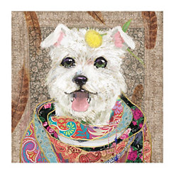 Boho Westie Canvas Art Print