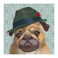 Gangsta Pug Canvas Art Print