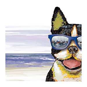 Nautical Terrier Canvas Art Print