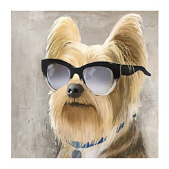 Nerdy Yorkie Canvas Art Print