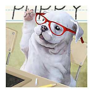 Preschool Pup Canvas Art Print