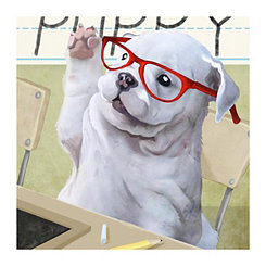 Preschool Pup Canvas Art Print