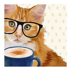 Purr-Fect Brew Canvas Art Print