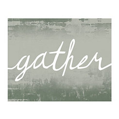 Gather Script Canvas Art Print