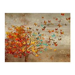 Whimsical Butterfly Tree Canvas Art Print