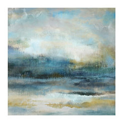 Blue Sky Abstract Canvas Art Print
