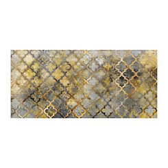 Golden Gridding Canvas Art Print