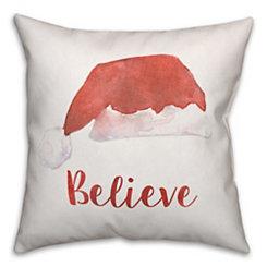 Believe Santa Hat Pillow
