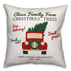 Claus Family Trees Pillow