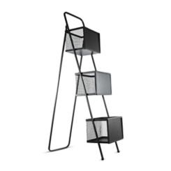 Chalkboard Storage Rack with Wire Baskets