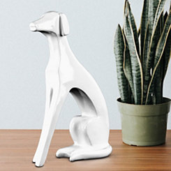 White Abstract Dog Figurine