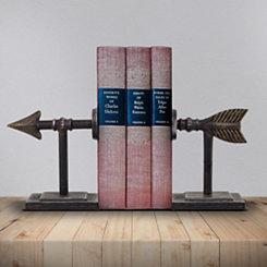 Metal Arrow Bookends, Set of 2