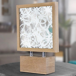 Framed Paper Art with Wooden Base Sculpture