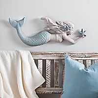 Cast Resin Mermaid Wall Plaque