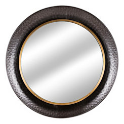 Textured Silver Concave Wall Mirror