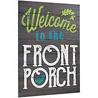 Welcome to the Front Porch Wall Plaque