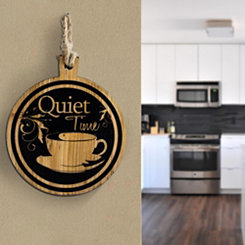 Quiet Time Coffee Hanging Wall Plaque