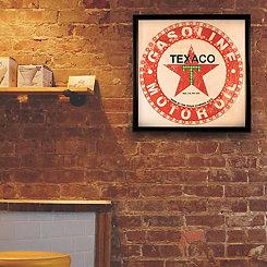 Vintage Framed Texaco LED Wall Plaque