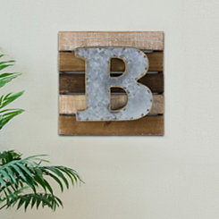 Rustic B Block Wall Plaque