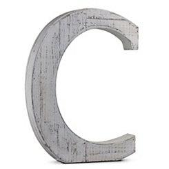 Rustic Monogram C Wood Block Letter