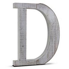 Rustic Monogram D Wood Block Letter