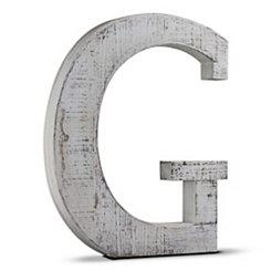 Rustic Monogram G Wood Block Letter