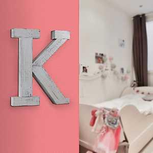 Rustic Monogram K Wood Block Letter