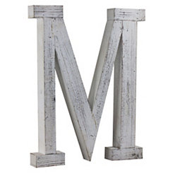 Rustic Monogram M Wood Block Letter