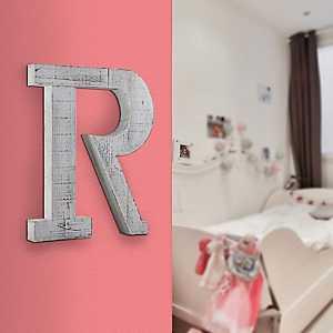 Rustic Monogram R Wood Block Letter