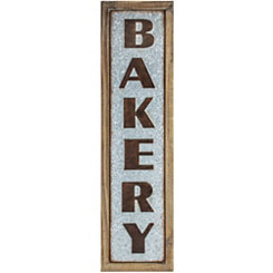 Wood and Metal Bakery Sign