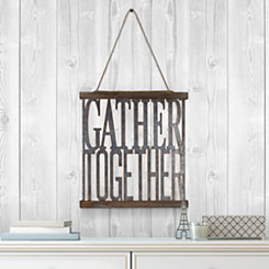 Gather Together Rustic Metal Hanging Sign