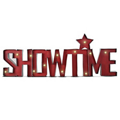 Pre-Lit Marquee Showtime Sign