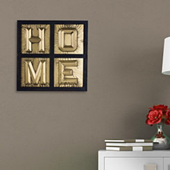 Gold Letters Home Window Wall Plaque