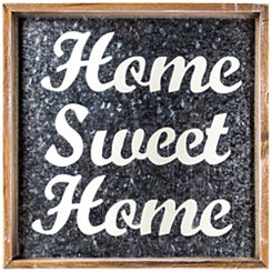 Home Sweet Home Galvanized Framed Wall Plaque