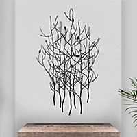 Silver Metal Branches Wall Plaque