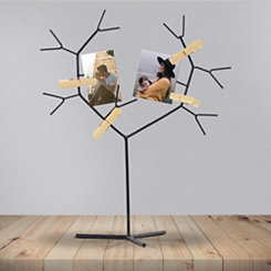 Metal Tree Collage Frame Stand with Clips