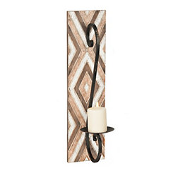 Wood Diamond Wall Sconce