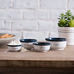 Navy Speckled Ceramic Measuring Cups