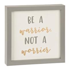 Warrior Not Worrier Word Block