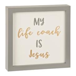 My Life Coach Is Jesus Word Block
