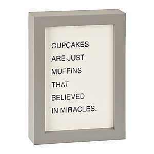 Cupcakes and Muffins Word Block
