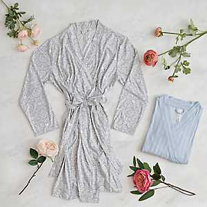 Patterned Suede Women's Robes