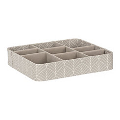 Gray Stripe Jewelry Tray