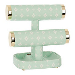 Mint Green 2-Tier Jewelry Stand