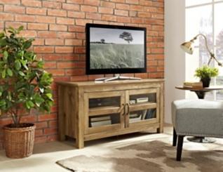 Barnwood 2-Door Media Cabinet