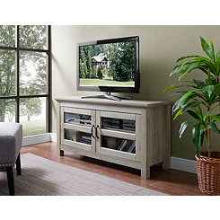 White Oak 2-Door Media Cabinet