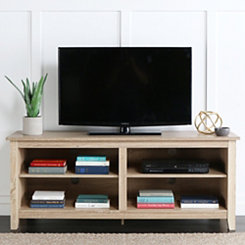 Natural Wood Media Console, 58 in.