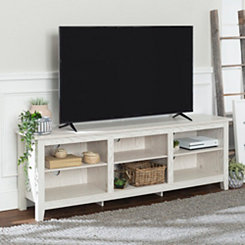 Whitewashed Wood Media Console, 70 in.