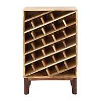 Rustic Brown Wooden Wine Rack
